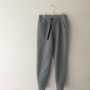 grey woman's joggers
